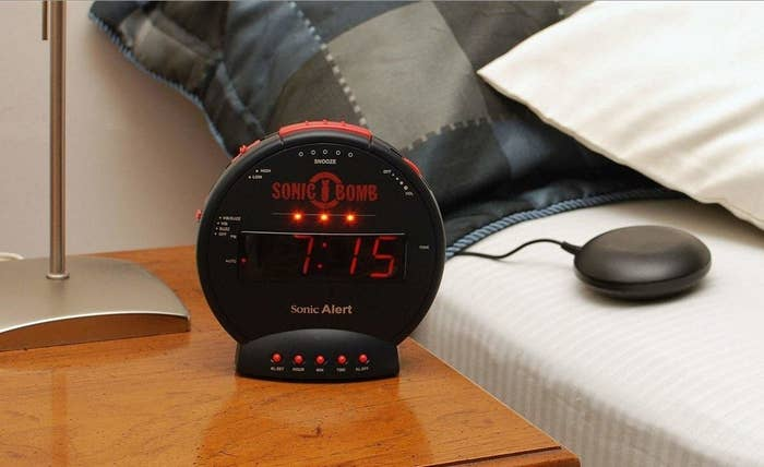 This Super Loud, Bed-Shaking Alarm Clock Will Wake Up Even