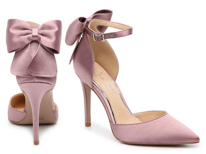 2ea6e20ea24 Heels with a chic bow detail that will turn heads as you walk — no