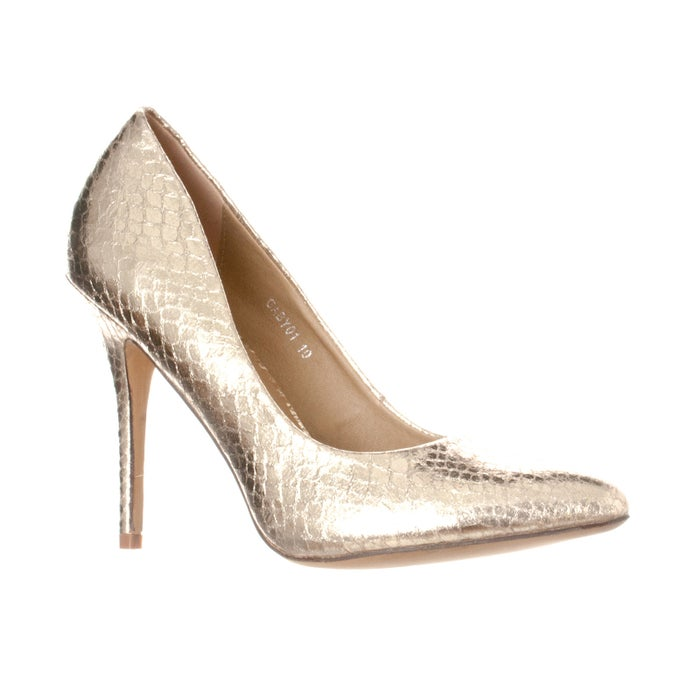 """Promising review: """"I bought these in three colors, and I'll probably end up buying more. The sizing is really good. I normally wear a size 7.5, and that's what I bought, and they were true to size. The heel is about as high as I can take (I don't wear heels all the time), but they're not too high. The foot pad is soft and comfortable, and my feet don't hurt when I wear them for a long time. I feel like I could wear these shoes for the next 10 years and the styling will hold up. They seem to be built well enough that the shoes will hold up too. I recommend them."""" —GinaVGet them from Walmart for $29.99 (available in sizes 6-6.5, 7.5-10 and in 23 colors)."""