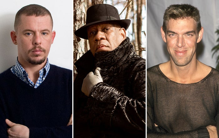 Alexander McQueen, André Leon Talley, and Kevyn Aucoin.