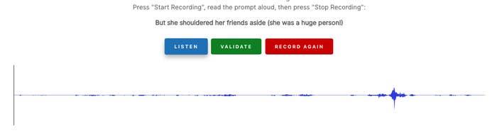音声アバターの作成時にLyrebirdから録音を求められるフレーズの例。