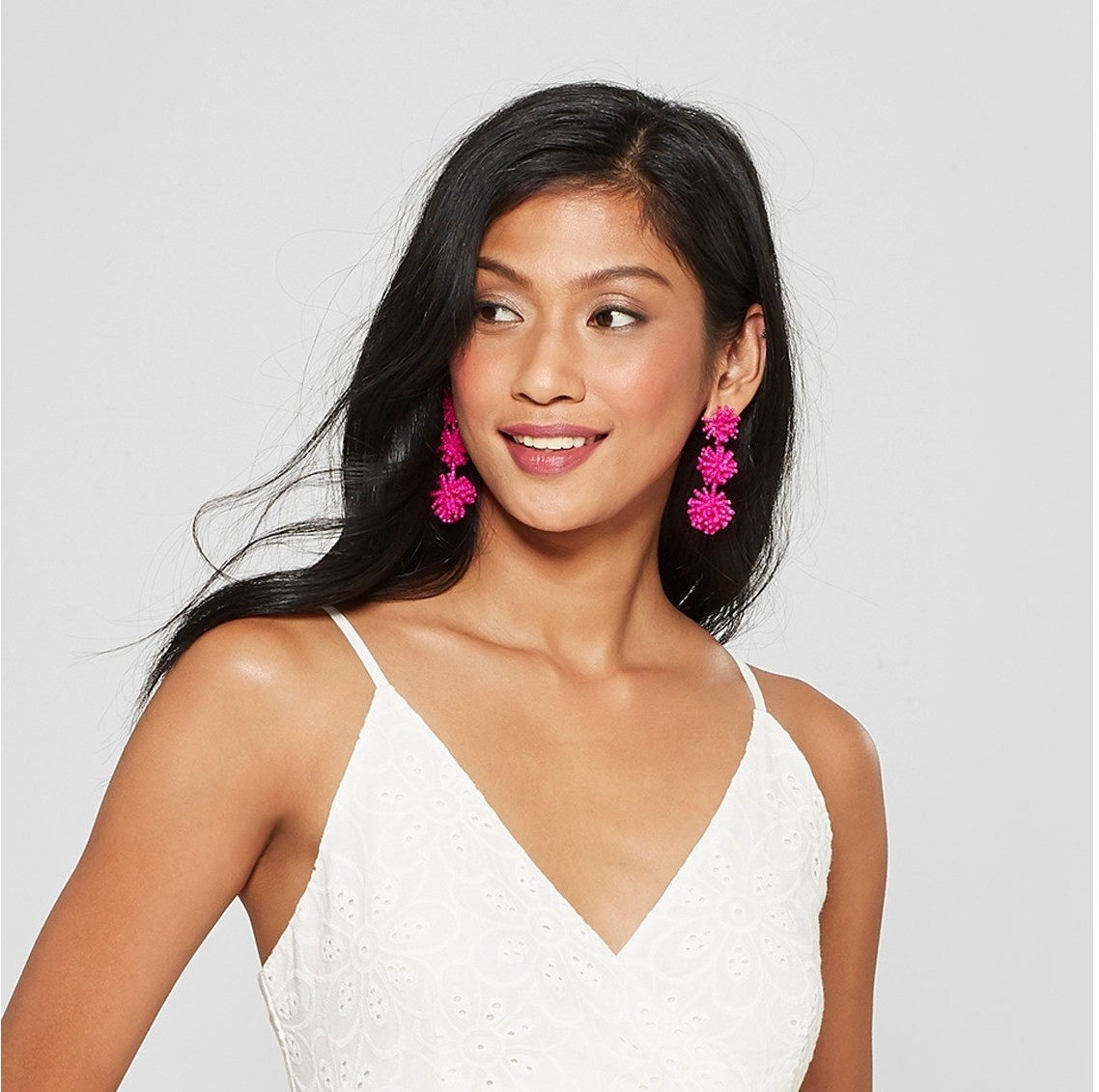 """Promising review: """"I love these earrings! I have them in several colors. They are super stylish and lightweight!"""" —smuashleyGet them from Target for $12.99 (available in five colors)."""