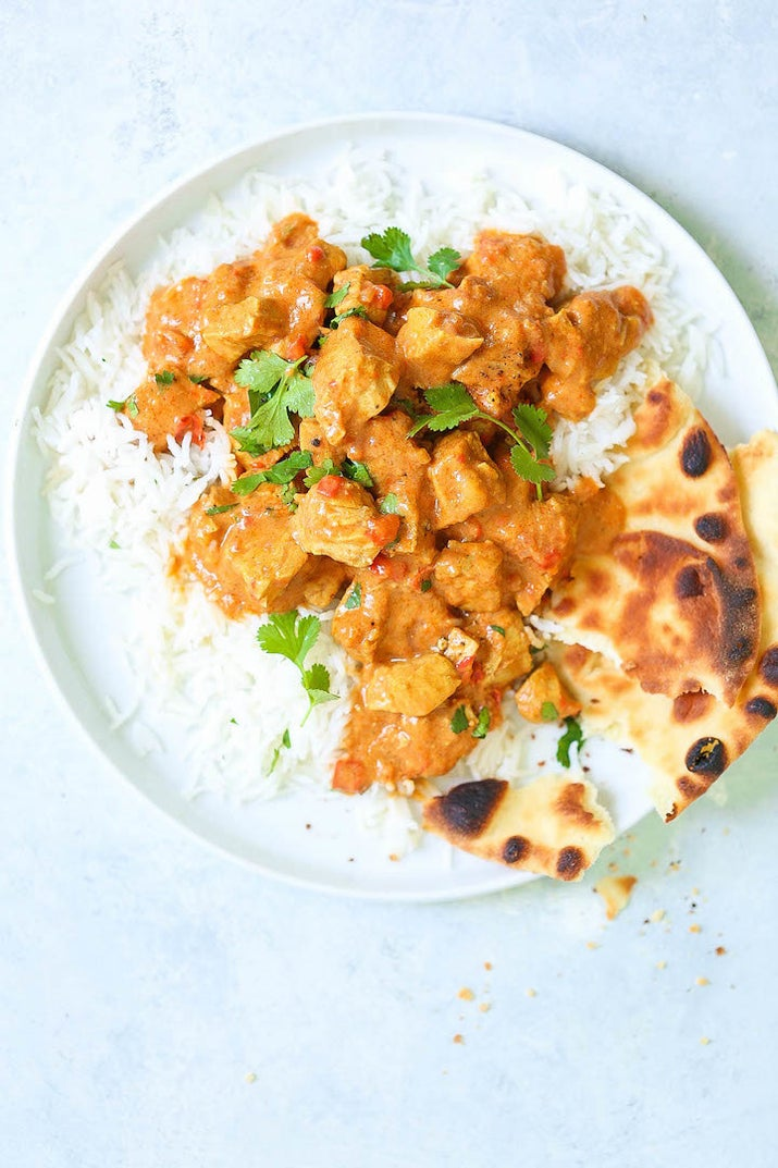 Serve this Indian-inspired chicken with basmati rice and naan. You'll need something to sop up all that rich, flavorful sauce. Get the recipe.