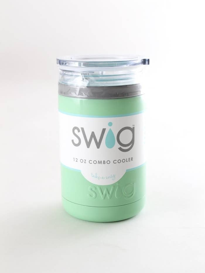 While you barbecue this Labor Day, keep your drink cold with Swig! Swig combo coolers are vacuum insulated, keeping drinks cold up to 24 hours or hot up to 12 hours. Choose from a variety of cool colors and designs!
