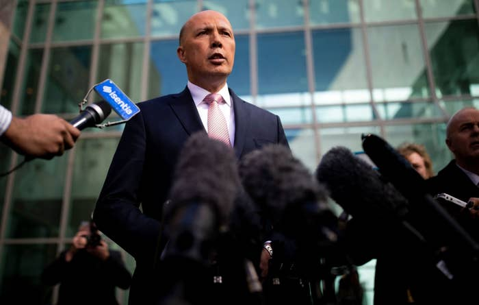 Peter Dutton in Canberra on August 21, 2018.