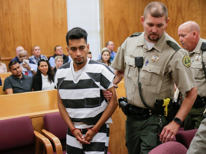 Rivera in an Iowa courtroom Wednesday.
