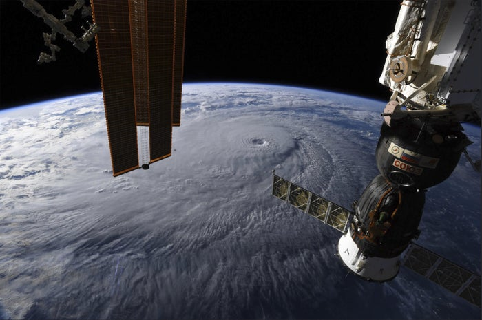 Hurricane Lane seen Wednesday from the International Space Station.