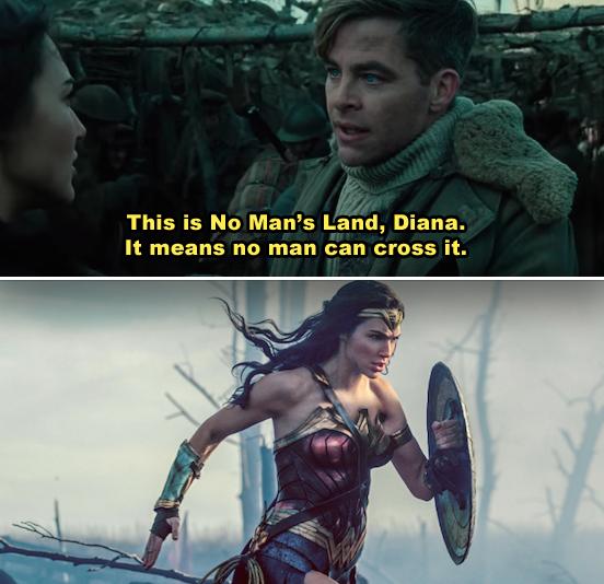 Diana crossing No man's Land