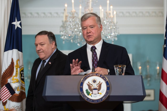 Steve Biegun was introduced by Pompeo Thursday.