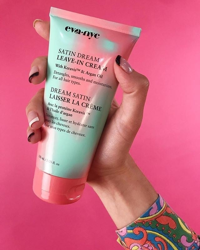 """This stuff smells sooooooo good. It's a pretty solid leave-in conditioner that makes my hair soft, but the real draw is the amazing scent. I usually put just a dollop in damp hair and then let it air dry. Promising review: """"Smells great, feels like silk but doesn't feel oily, and it is lightweight. It didn't make my hair feel weighed down or heavy. Very impressed that it performed so well! I put it on after towel drying my hair then blow dried as usual. This is easy to apply. My hair felt so lightweight and this added shine for sure!"""" —Rollingbeauty37Get it from Ulta for $8.99."""