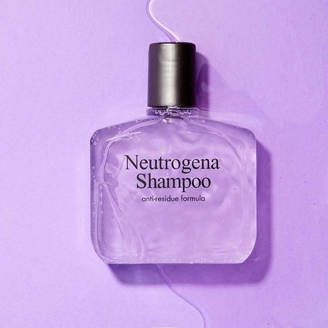 clear shampoo bottle