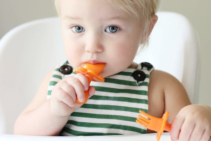 Grabease are revolutionary utensils designed specifically so that babies and toddlers can safely feed themselves. The handle is designed to promote a proper hand grasp and support the pincer grasp (very important for preschool) and it has a choke-proof barrier so little ones can't stick it too far into their mouths and gag.Their small size and chic packaging makes them the perfect stocking stuffer too!