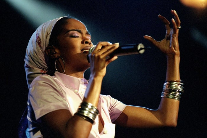 Lauryn Hill performing The Miseducation of Lauryn Hill in concert at Madison Square Garden in 1999.