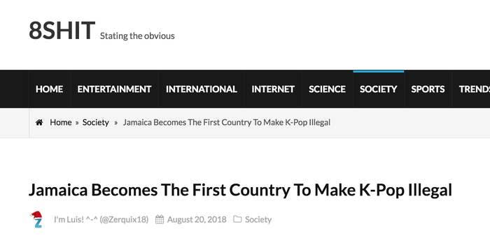 No, Jamaica Has Not Made Korean Pop Music Illegal