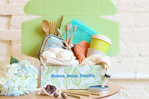 """What it is: A subscription that'll help you to use less plastic in a different area of your life each month, via curated boxes with four to six eco-friendly, reusable items — like cotton mesh produce bags, bamboo travel utensils, stainless steel lunch boxes, and more.Promising review: """"Our first GreenUp box came last week and we couldn't be more satisfied. It was filled with fun, quality products that we have already used multiple times. We're most excited about the cotton produce bags and the (super cute) bamboo mug. We are the kind of people that always forget reusable bags in the house, but we've been so excited to use the produce bags and canvas tote that we always grab them before we leave the house! The bamboo mug has replaced all plastic to go coffee cups from our favorite cafe. Cant wait to see what the GreenUP team sends us next! 10/10 would recommend this subscription box."""" —ZoeyPrice: $42.95+/month"""