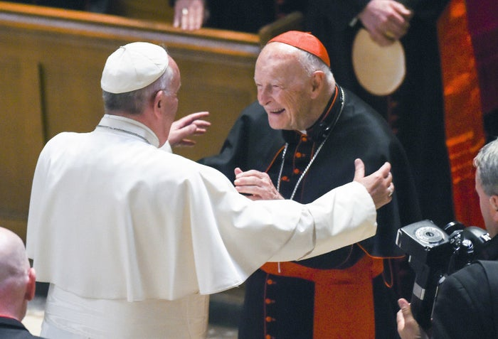 Pope Francis with Theodore McCarrick in 2015.
