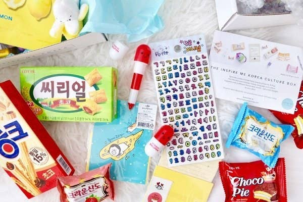 What it is: A South Korean culture subscription box that explores a new theme every month via snacks, skin-care items, stationery, a magazine, and more. Price: $27.99+/month