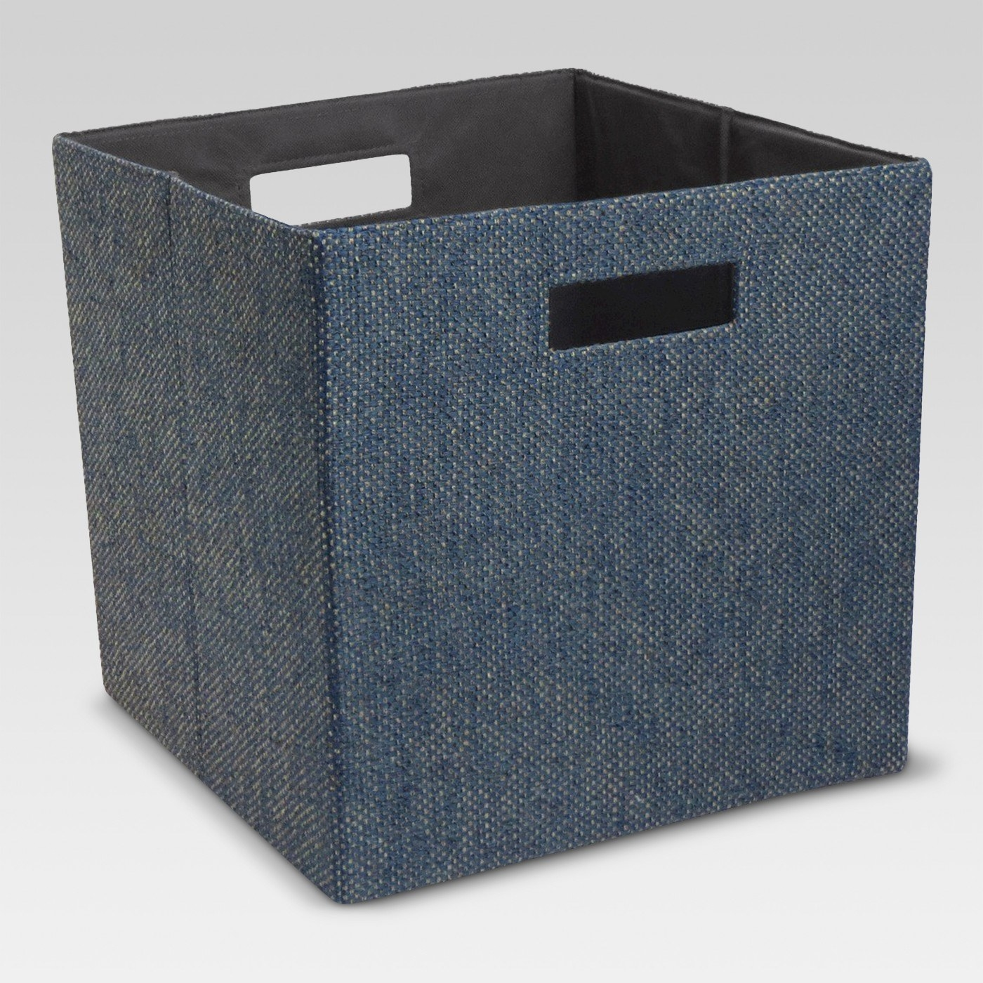 Fabric storage cube in blue