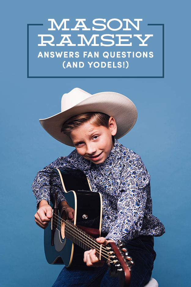 """Mason Ramsey was only 11 years old when he went mega-viral for yodeling/singing Hank Williams Sr.'s """"Lovesick Blues"""" at a Walmart in Illinois. His performance was viewed by tens of millions of people, and even got him an interview with Ellen DeGeneres. Since going viral and becoming a universally recognizable internet meme, Ramsey has released a single, EP (Famous), and continued to gain countless fans. We sat down with the precocious yodeler to talk about """"Famous,"""" fame, haters, and much more. Here's what went down."""