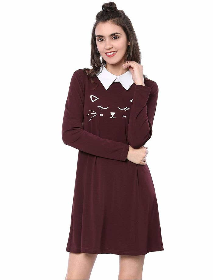 790f42bb8 A kitten dress with a sweet little face and a big crisp collar. Keep an eye  on this one, because your friends will wanna get their ~paws~ on this and  ...