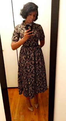 f4e9dddba2 13. A floral maxi with a vintage edge that is basically begging to be worn  with dad sneakers.