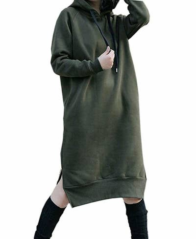382db3e381 A massive sweater dress so you can basically wear a blanket all day long on  days when you wish you never had to leave your bed.