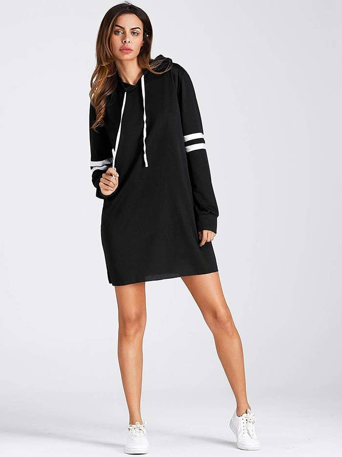 8b3a8276e76 An oversized sweatshirt dress that proves wearing a dress doesn t have to  mean dressing up.