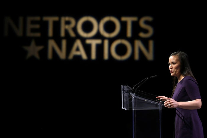 Gina Ortiz Jones speaks at the Netroots Nation annual conference this summer.
