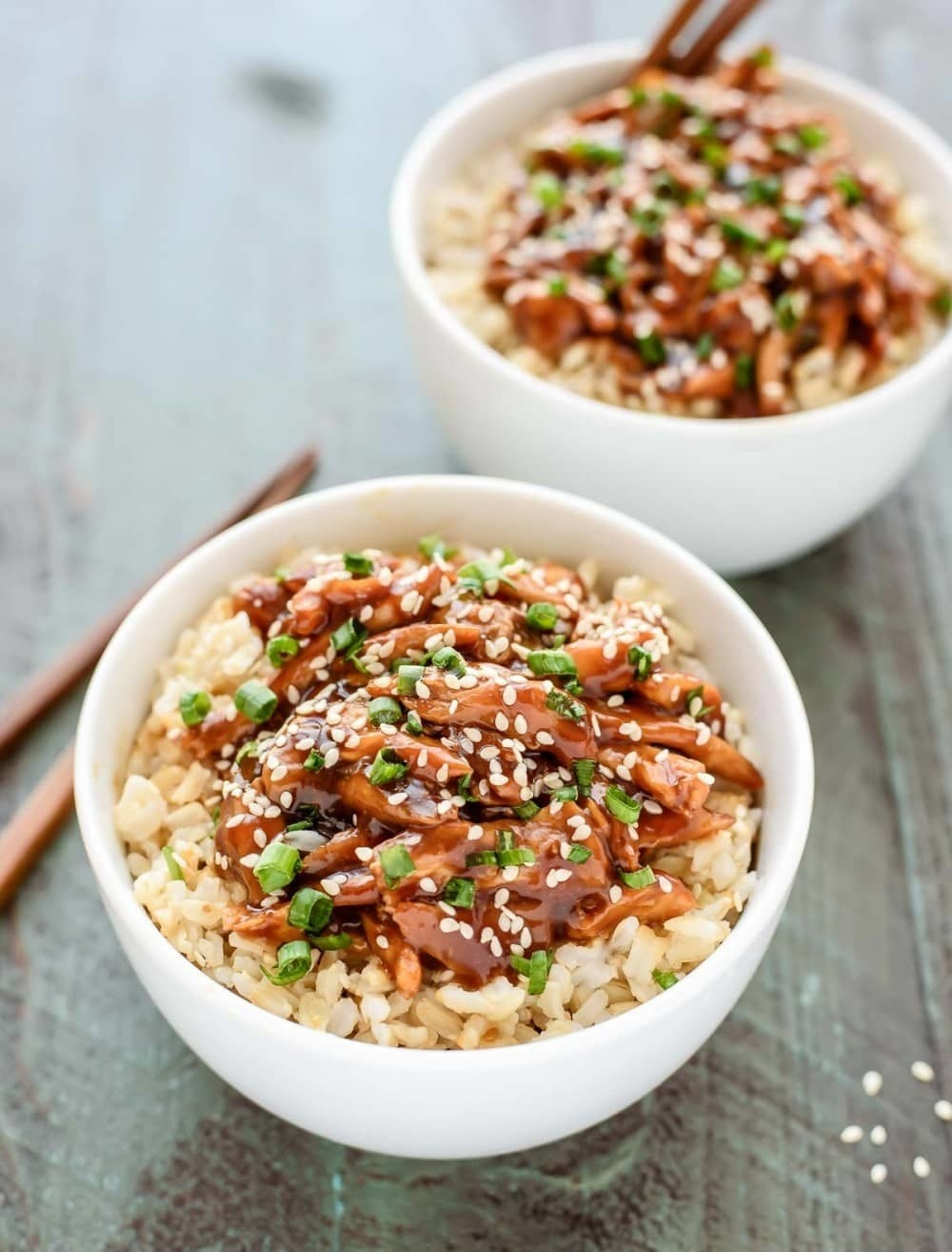 This sweet and tangy sauce comes together with ingredients you most likely have sitting in your pantry: soy sauce, rice vinegar, honey, brown sugar, garlic, and ginger. Get the recipe.