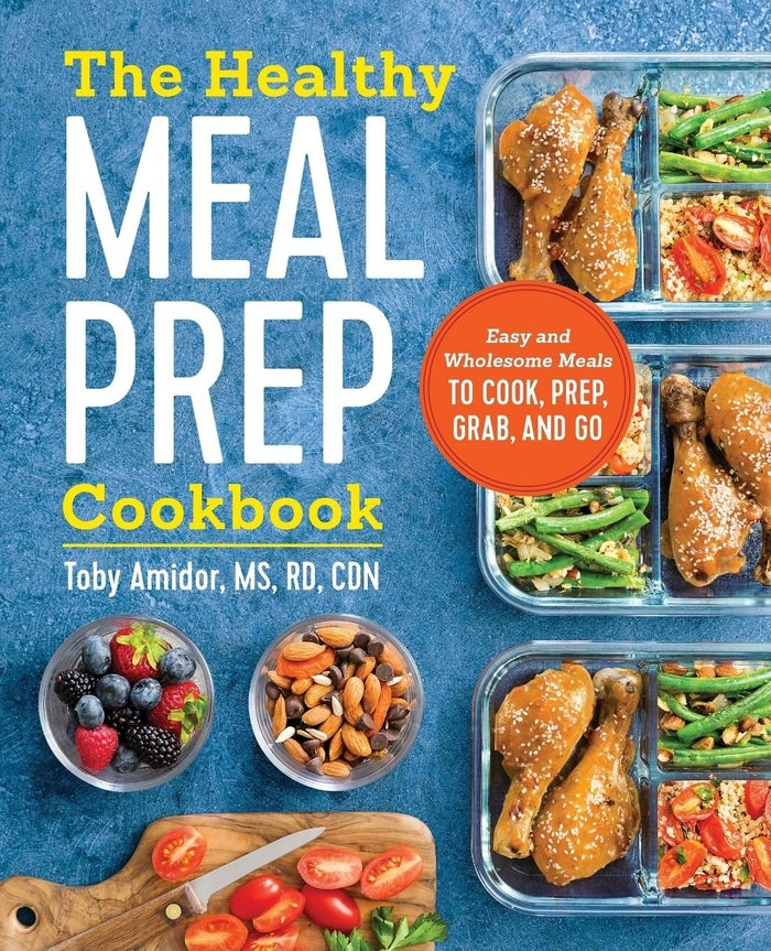 """Promising review: """"One of the only meal-prep books I could find that is not overly focused on weight loss. This was a gift for a 19-year-old learning to cook and stock a kitchen healthfully for the first time, so I wanted to get her something that could teach her about food, meal prep, saving money, being healthy — without the diet-y rhetoric that she doesn't need. There are different plans and preps for muscle building, clean eating, and weight loss, but without an overtone of unhealthy weight loss mania. It's a good one."""" —JulesGet it from Amazon for $12.54."""