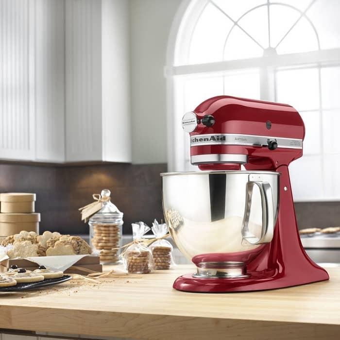 A KitchenAid Artisan stand mixer
