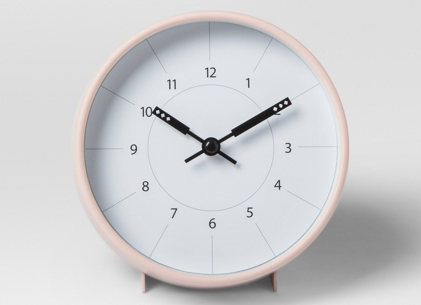 """Promising review: """"I needed a clock for my bathroom and this one is perfect. It's easy to see; it's very quiet; it's a great color, blush; it keeps perfect time; it can either stand on the counter or hang on the wall; and it's a bargain at the price. I love it."""" —PAHGet it from Target for $9.99."""