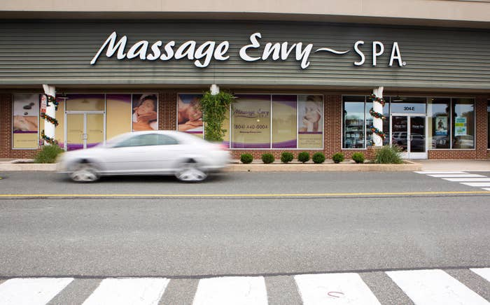 A Massage Envy storefront in Virginia.