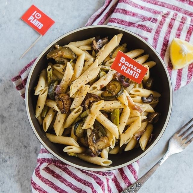 penne in a bowl