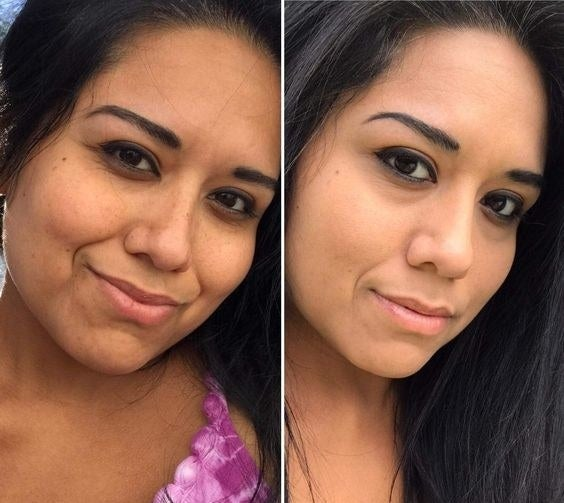 """Check out some flawless before-and-afters in This $5 Foundation Has Helped Thousands Of People Find Their Perfect Shade!Promising review: """"I love this foundation. This is the first foundation I have tried that has matched my skin so closely. It gives me medium to light coverage, which I personally love since I like wearing this during the summertime. I have acne scars that I really don't love, but this product provided coverage over them. Also, what tops it all is that this foundation is matte! I have very oily skin so this thing is my holy grail. If you are wondering whether to get it just read this review. It goes on and blends flawlessly. I bought another bottle just because I love it so much! (Btw, I got the color 330 Toffee Caramel). —SimpleebekahGet it from Amazon for $4.17+ (available in 40 shades)."""