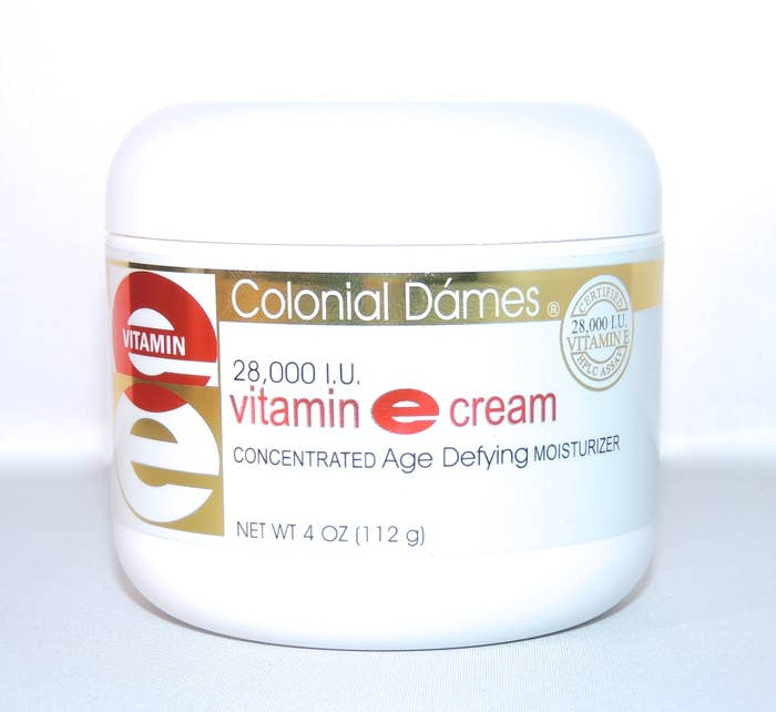 """""""Colonial Dámes Vitamin E cream. My mom has been using it FOREVER and her skin looks amazing, even at 60. I swear this is her secret. It's this luxurious, thick cream that is great for applying just before bed, and I've started using it regularly myself. I've never heard of it from anyone else other than her, and she's ecstatic that she can now buy it on Amazon!"""" —mirandaheaneyGet it from Amazon for $8.25."""