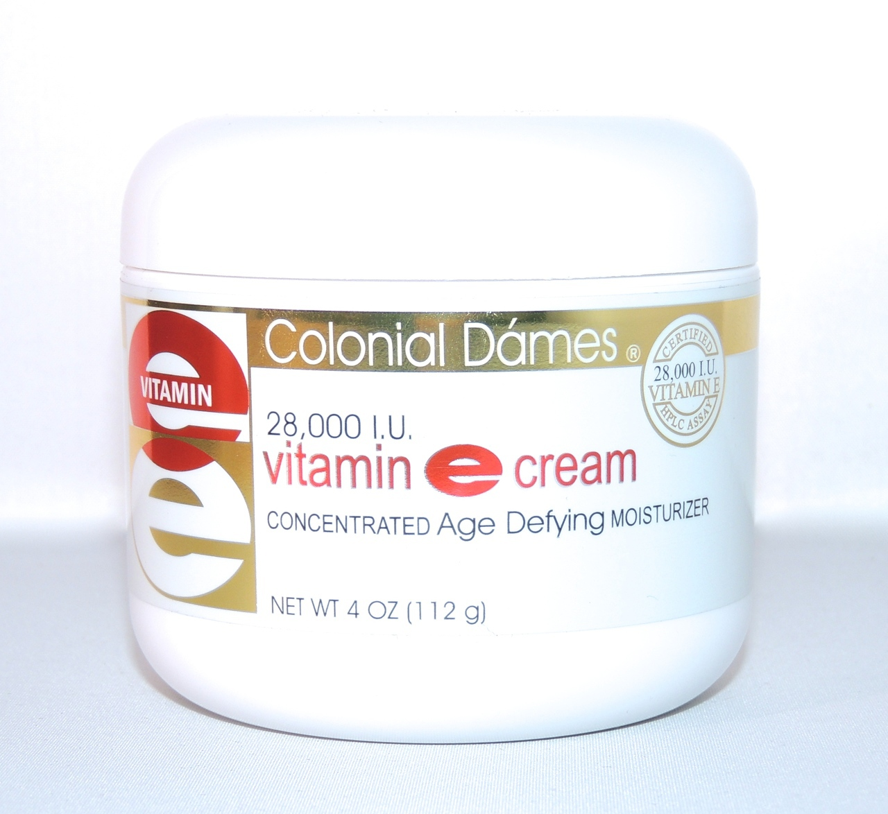 A jar of Colonial Dames vitamin E cream