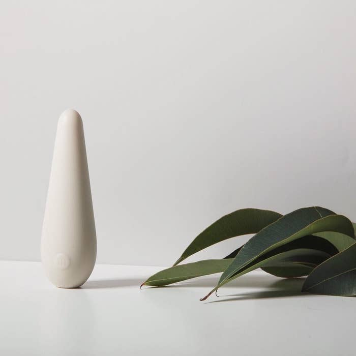 the elongated oval vibrator on a countertop