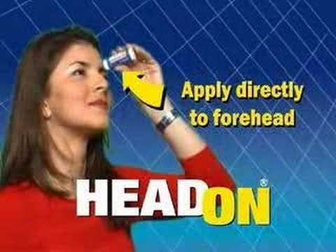 """Apply directly to the forehead."""