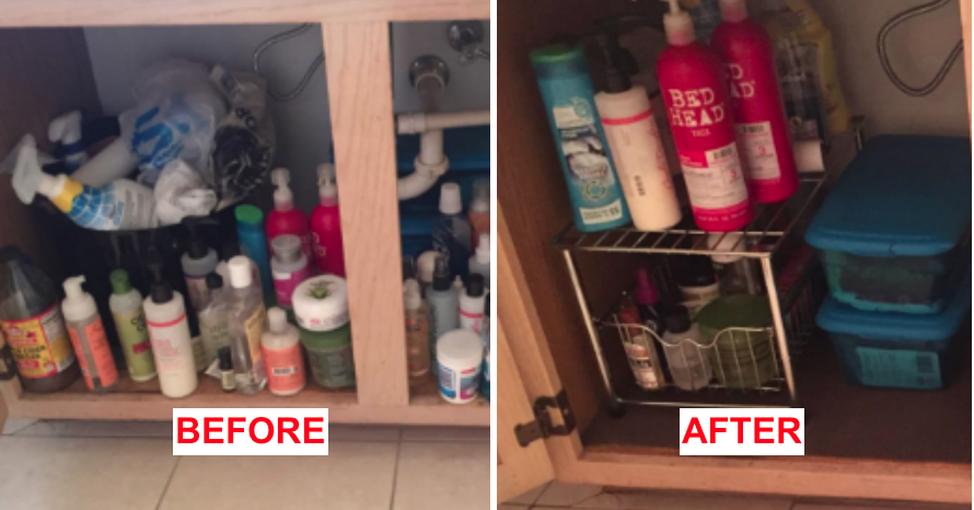 This Organizer Will Declutter Your Cabinets So You Can Actually Find Things For Once