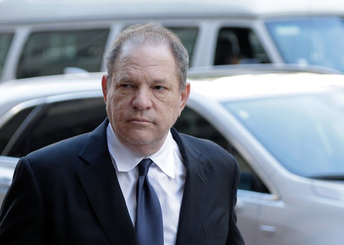 Harvey Weinstein outside court in New York on July 9.