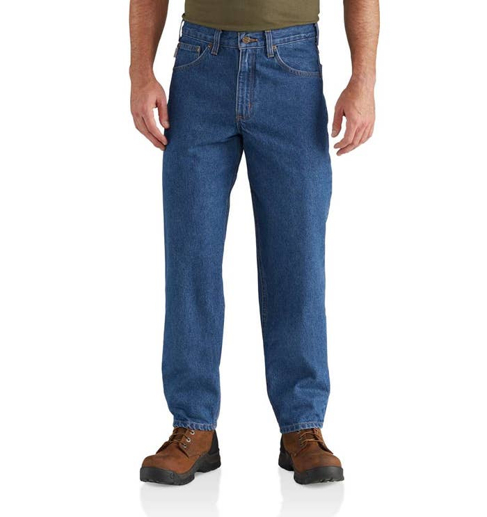 """Promising review: """"Most brands don't have 28-inch inseams, but Carhartt does! My hubby finds them very comfortable and long-lasting."""" —Gail R. Get them from Carhartt for $34.99+ (available in sizes 28–54, six inseams, and two washes)."""