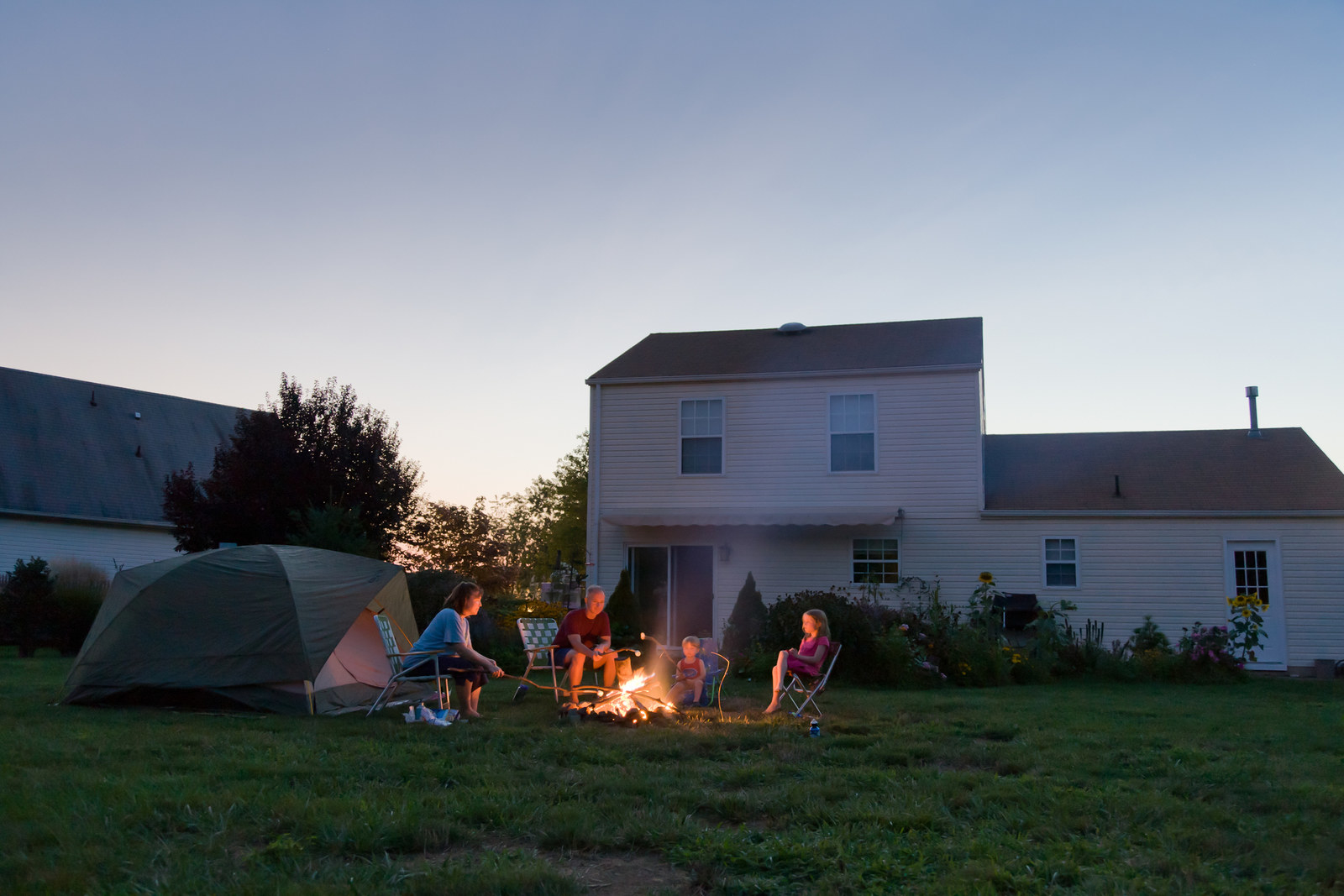 """Picnics at a local park or in the backyard are fun ways to get out of the house for free. Especially in the summertime, we set up a tent and go """"camping"""" for an at-home vacation.—maggieh4f4e6c863"""