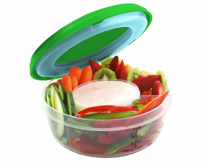 "Promising review: ""I love this bowl set. I have several of their products and love them. They are so well made. The design and construction of this particular bowl is perfect. It's just the right size to take your veggie or fruit bowl to work. The lid with the cooler pack in it helps keep it cool in your car or on your desk. I just love their stuff!"" —Amy ChristineGet it from Amazon for $9.99+."