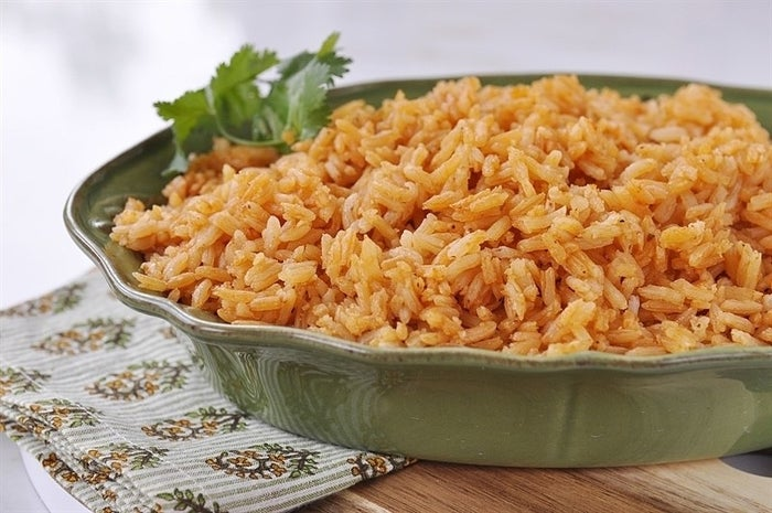 The trick to flavorful red rice is cooking white rice with chicken broth and a can of plump red tomatoes. Serve with lomo saltado, tacos, or your favorite protein dish. Recipe here.