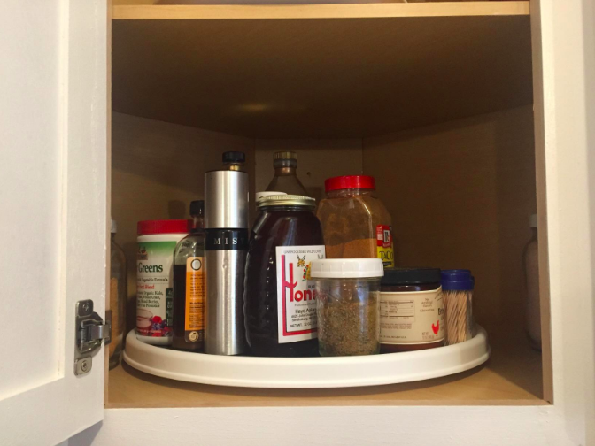 A Lazy Susan That Just May Spin Its Way Into Your Heart, And Into Your Deep  Corner Cabinet To Organize The Heck Out Of It.