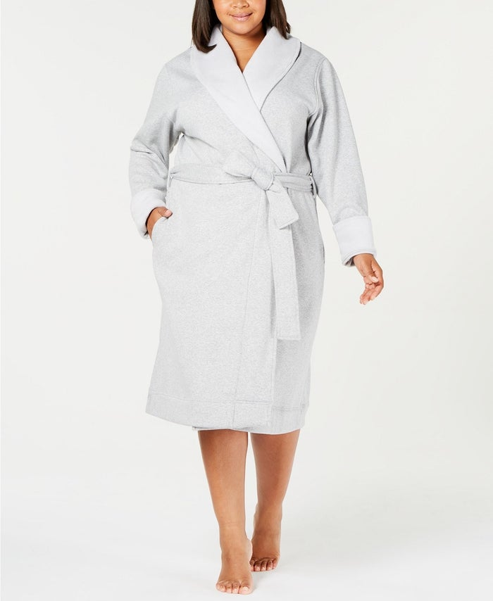 Get it from Macy's for $130+ (available in sizes XS-XL and 1X-3X and in cream, oatmeal, gray, and lavender).