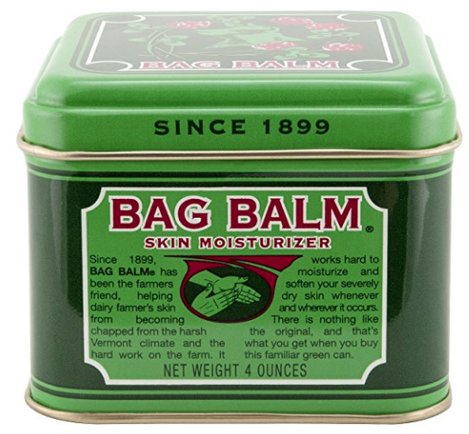 Tin can of Bag Balm skin moisturizer