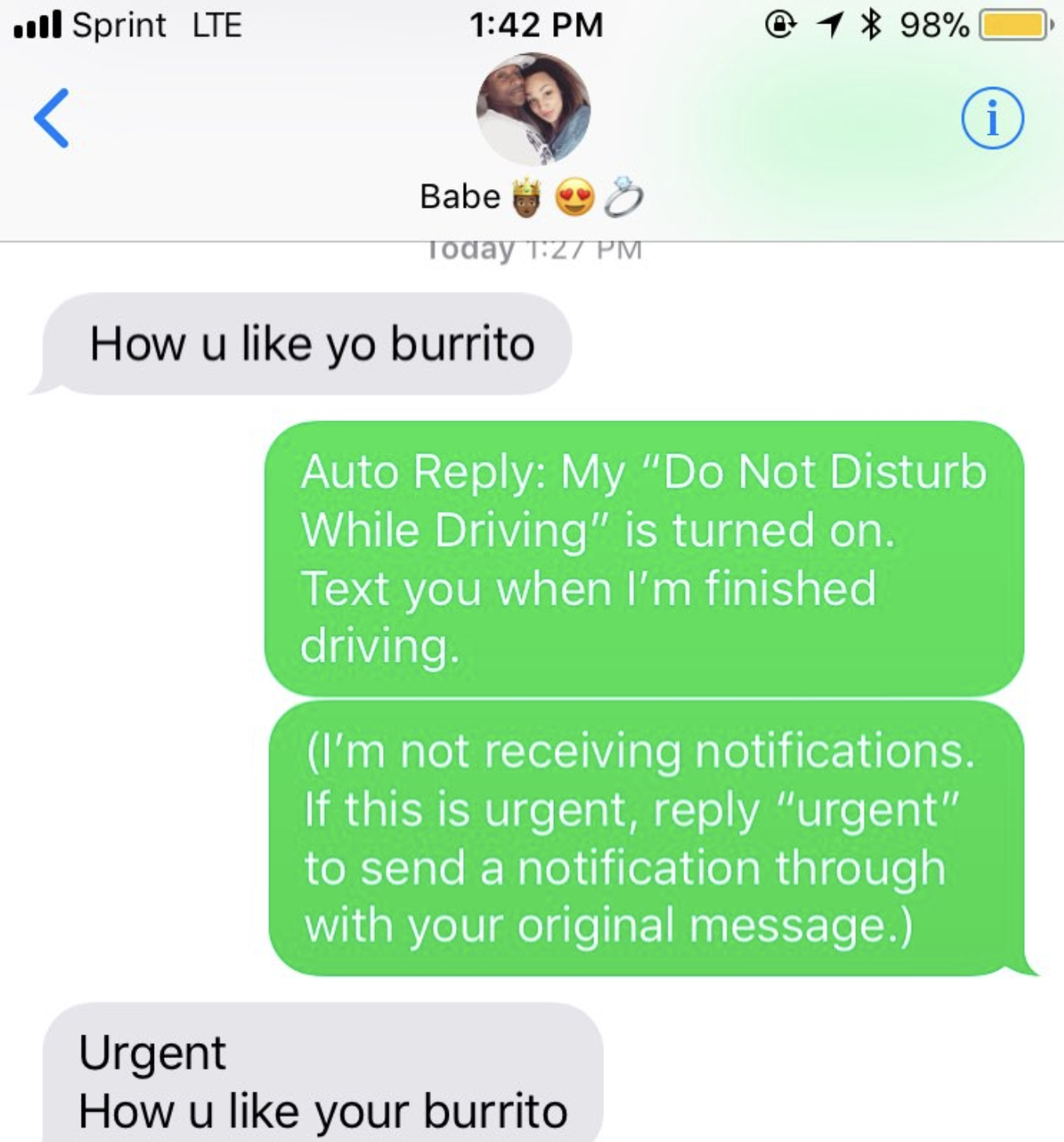 Texts send girl to witty to a First Text