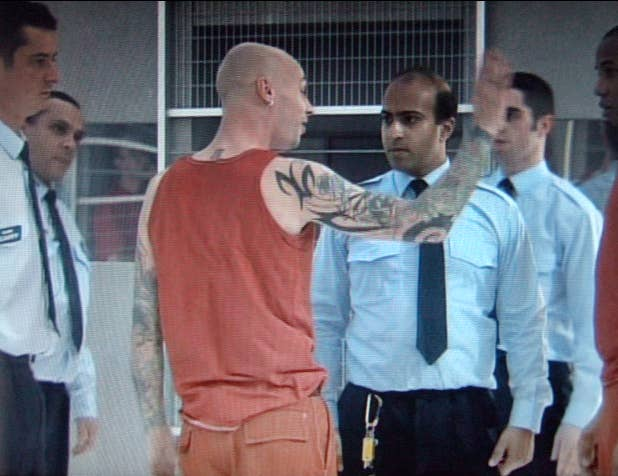 Still from the 2001 BBC Prison Study.